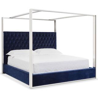 Presley Queen Canopy Bed - Blue