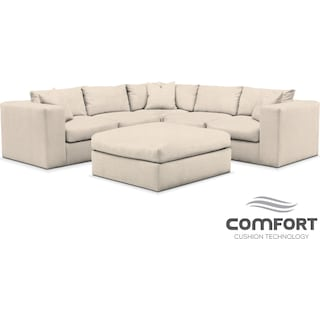 Collin Comfort 6-Piece Sectional - Curious Pearl