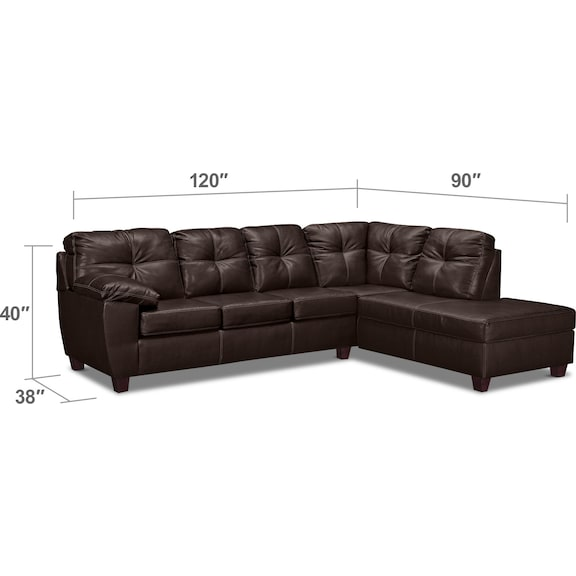 Ricardo 2 Piece Innerspring Sleeper Sectional With Right