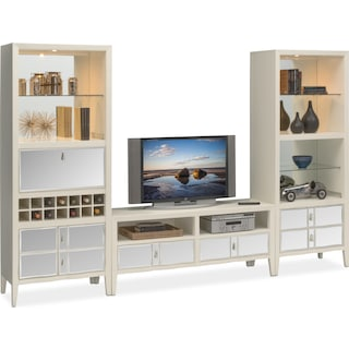Bellagio 3-Piece Entertainment Wall Unit - White