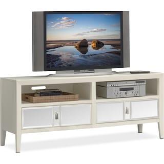 """Bellagio 66"""" TV Stand - White"""