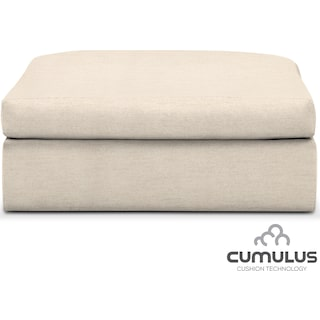 Collin Cumulus Ottoman - Pearl