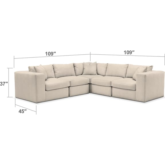 Living Room Furniture - The Collin Cumulus Collection - Curious Pearl