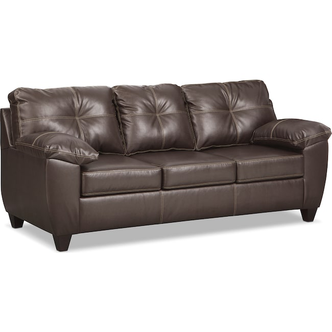 Living Room Furniture - Ricardo Queen Memory Foam Sleeper Sofa - Brown