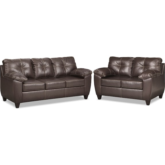 The Ricardo Living Room Collection - Brown | Value City Furniture ...