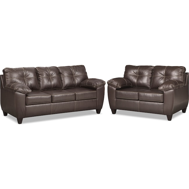 Living Room Furniture - Ricardo Sofa and Loveseat Set