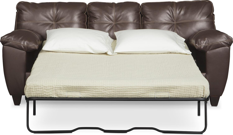 Ricardo Queen Memory Foam Sleeper Sofa - Brown