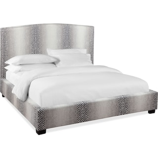 Grace Queen Upholstered Bed - Smoke