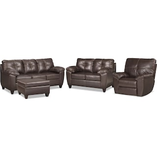 The Ricardo Living Room Collection - Brown