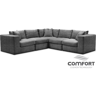 Collin Comfort 5-Piece Sectional - Curious Charcoal