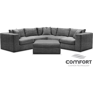 Collin Comfort 6-Piece Sectional - Curious Charcoal