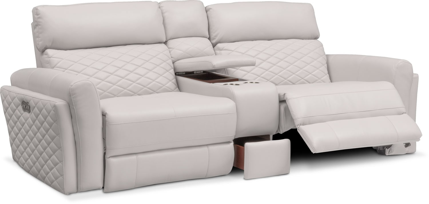 Catalina 3 Piece Power Reclining Sofa With Console Value City