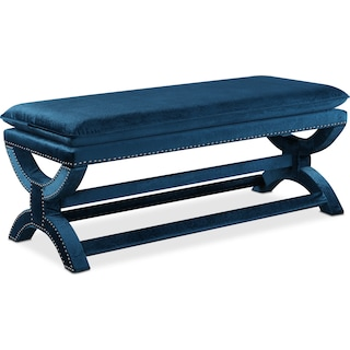 Michelle Bench - Embossed Teal