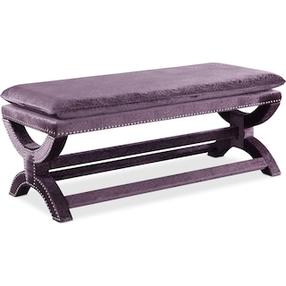 Michelle Bench - Embossed Purple