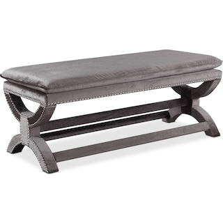 Michelle Bench - Embossed Gray