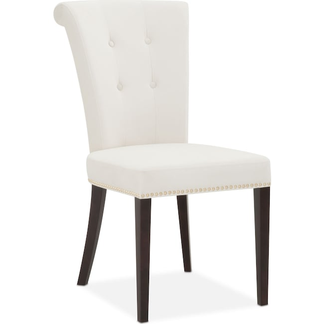 Dining Room Furniture - Calloway Side Chair - Ivory/Gold