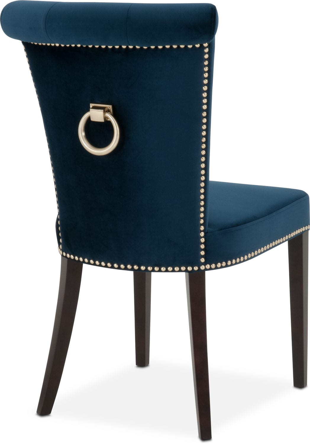 Calloway Side Chair Navy Gold Value City Furniture And