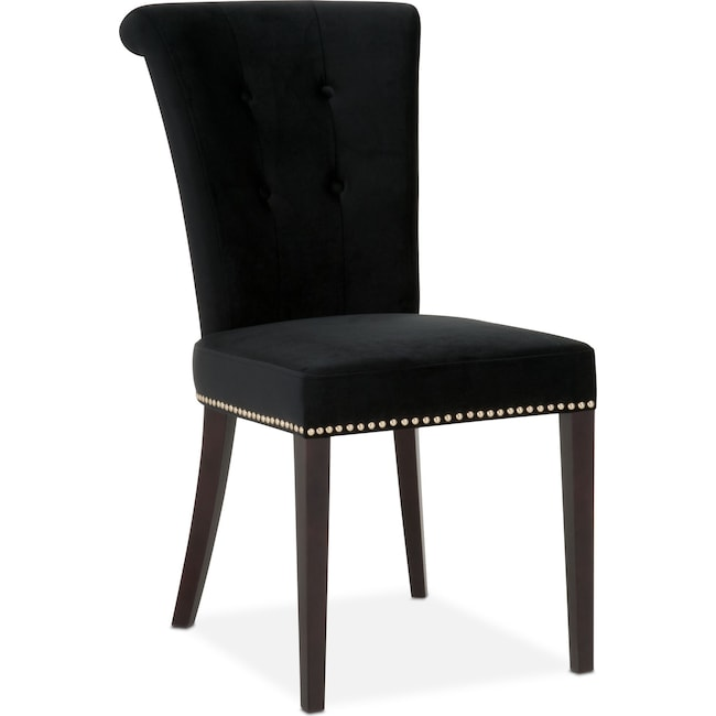 Dining Room Furniture - Calloway Side Chair - Black/Gold