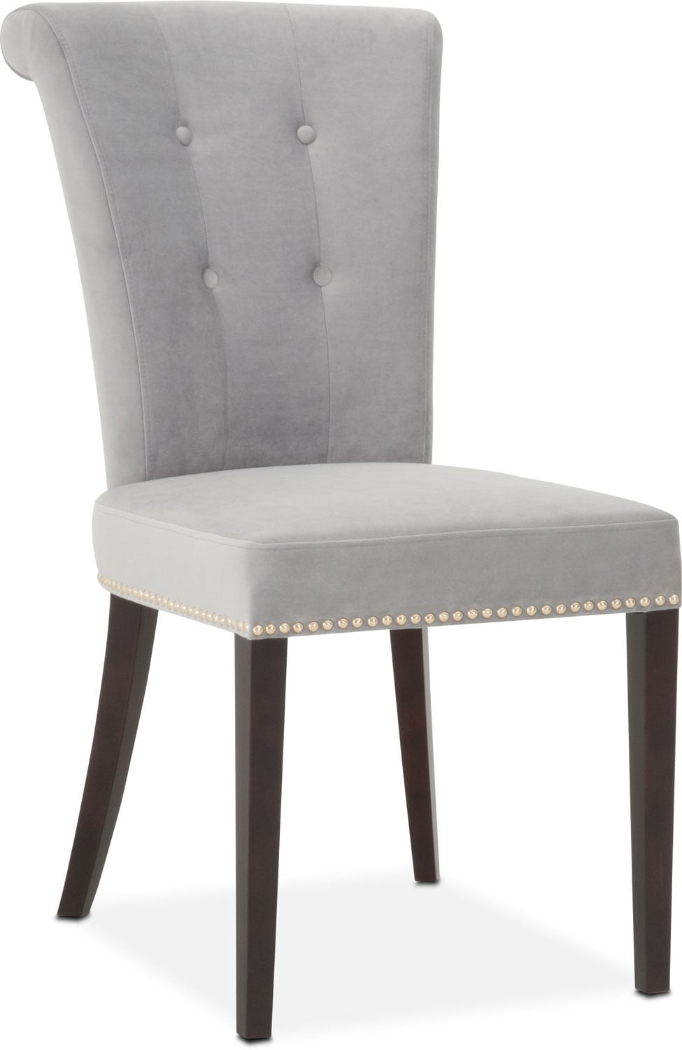 Office Furniture: Calloway Side Chair - Gray/Gold