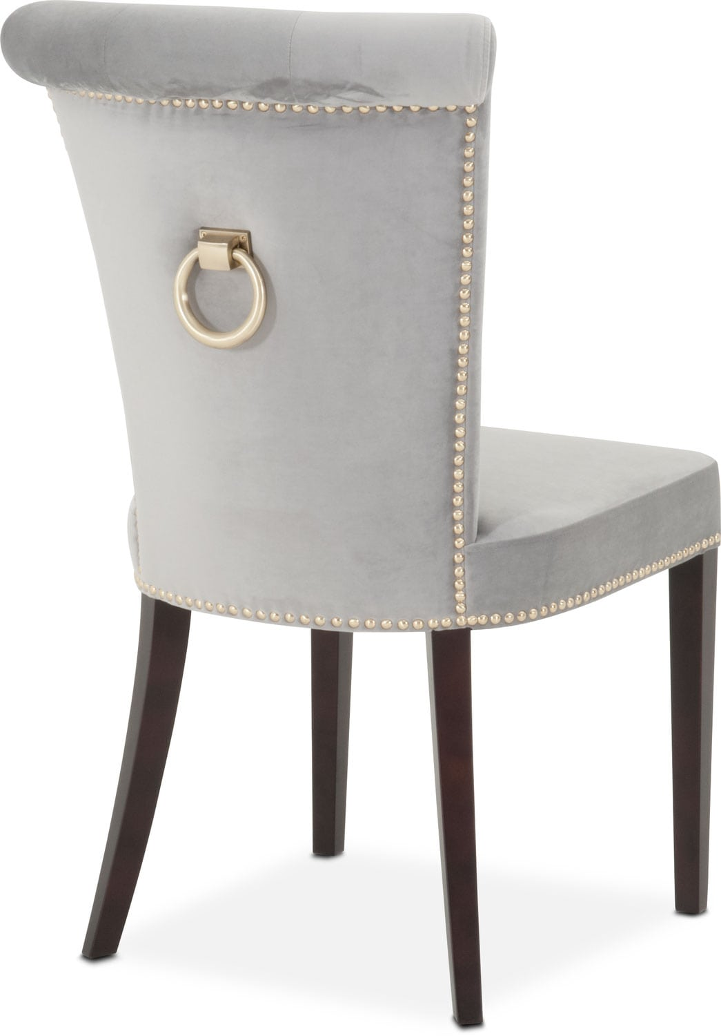 Calloway Side Chair Gray Gold Value City Furniture