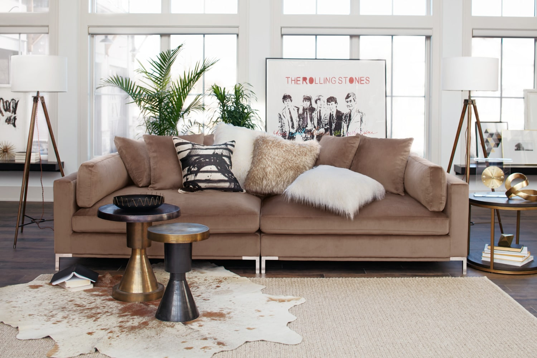 Moda 2 Piece Sofa Mushroom Value City Furniture And