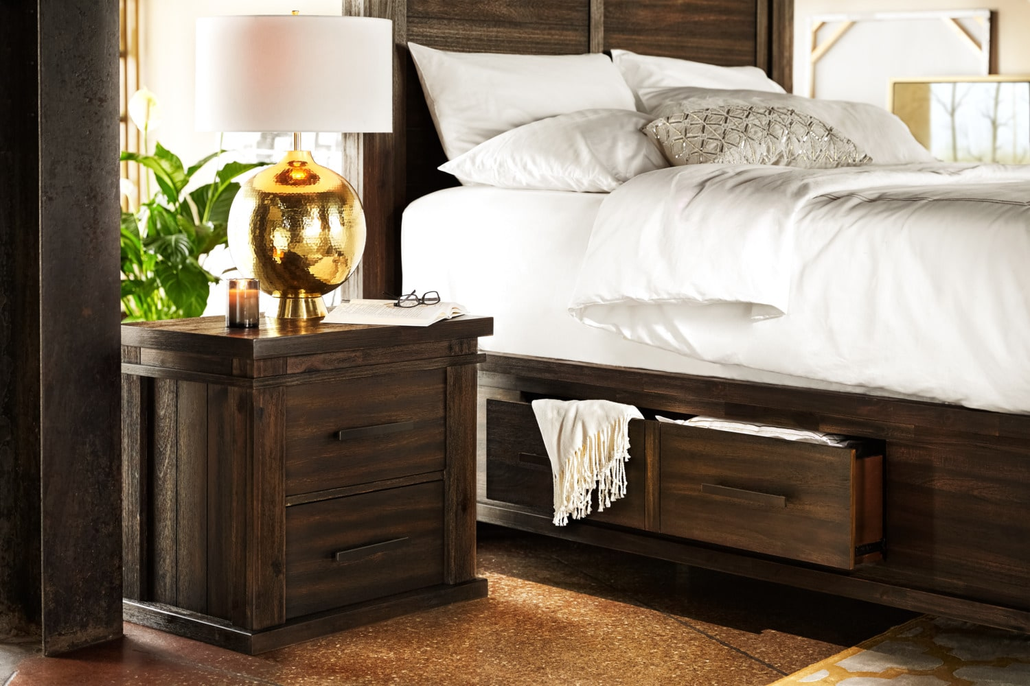 bed upholstered with acacia furniture dump cassidy queen luxe bedroom storage the beds drawers