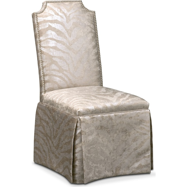 Dining Room Furniture - Zahara Side Chair - Platinum