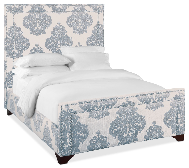 Was $299.99 Today $239.99 Babette Queen Upholstered Bed   Mist
