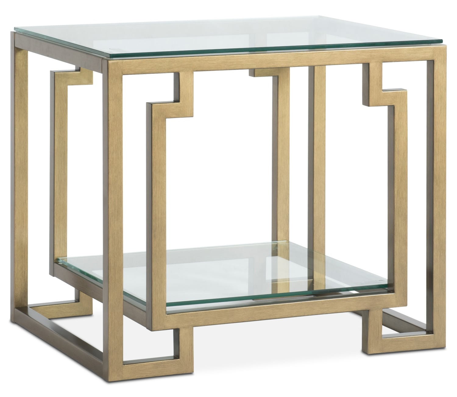 Accent And Occasional Furniture   Lynx End Table   Brass
