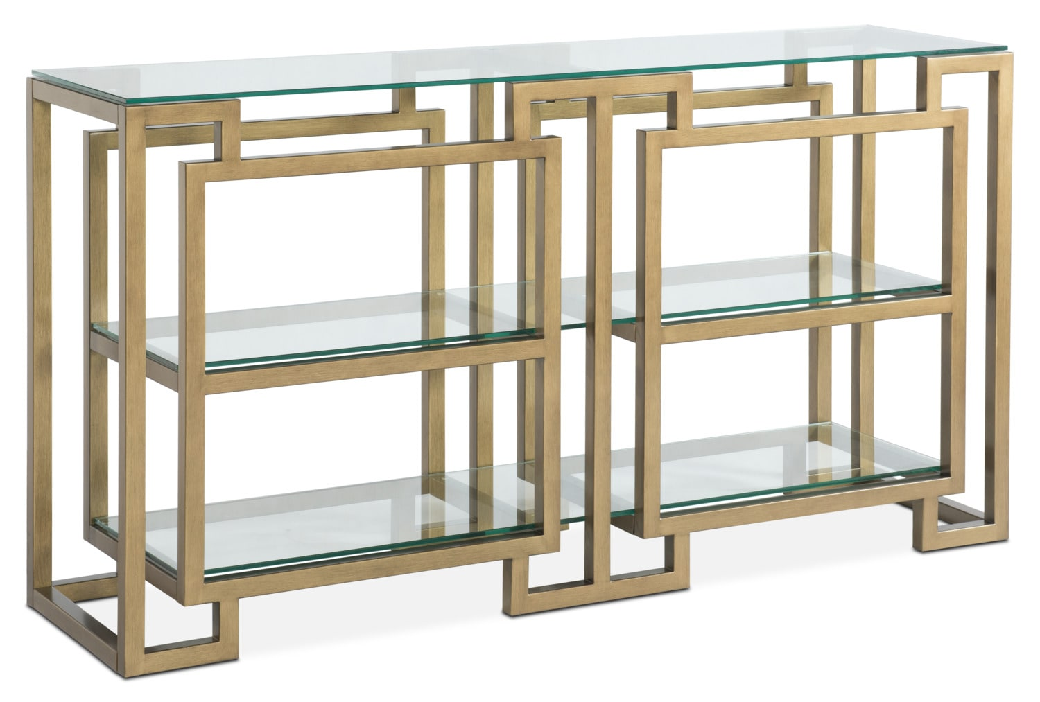 Accent and Occasional Furniture - Lynx Sofa Table - Brass