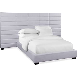 Bellamy Queen Upholstered Wall Bed - Gray