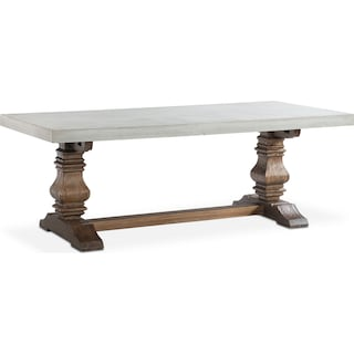 Churchill Concrete Top Dining Table Tobacco Value City Furniture