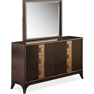 Savoy Dresser and Mirror - Merlot