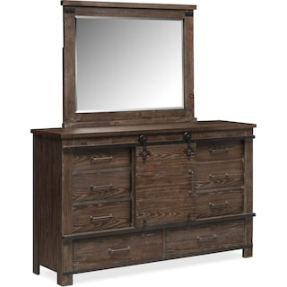 Founders Mill Dresser and Mirror - Cocoa