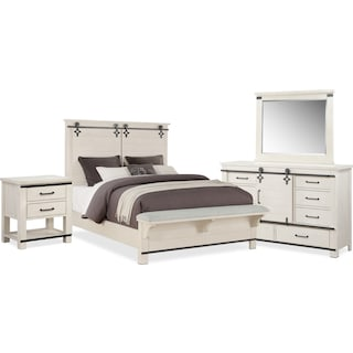 Founders Mill 6-Piece King Bedroom Set - White