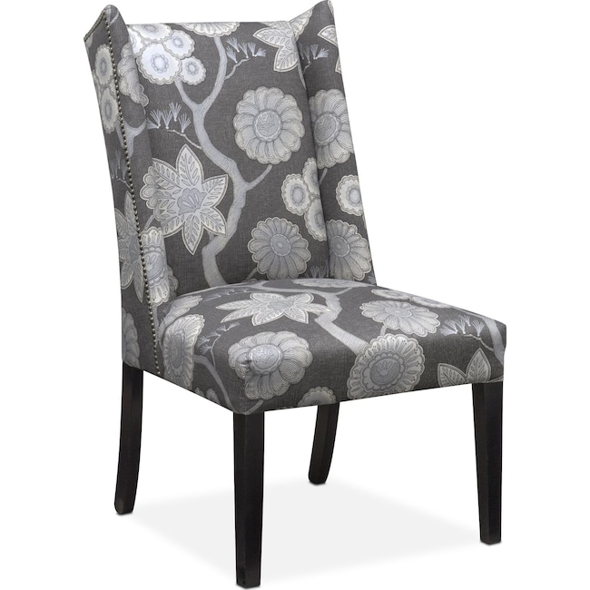Dining Room Furniture - Whitley Side Chair - Floral Onyx