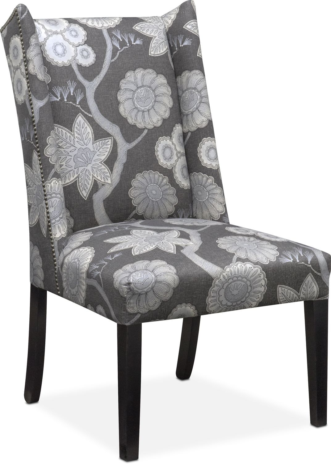 whitley side chair floral onyx