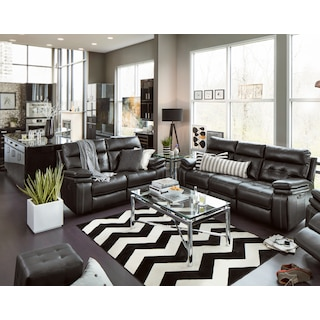 leather living room chairs. The Brisco Collection  Black Leather Living Room Furniture Value City and Mattresses