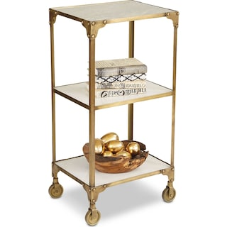 Meganlee Side Table - Brass