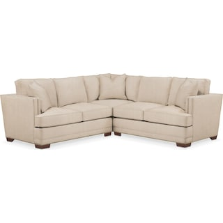 Arden 2 Pc. Sectional with Right Arm Facing Loveseat- Cumulus in Dudley Buff