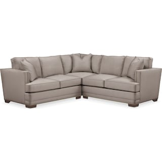 Arden 2 Pc. Sectional with Right Arm Facing Loveseat- Cumulus in Abington TW Fog
