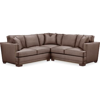 Arden 2 Pc. Sectional with Right Arm Facing Loveseat- Cumulus in Oakley III Java