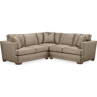 Arden 2 Pc. Sectional with Right Arm Facing Loveseat- Cumulus in Statley L Mondo