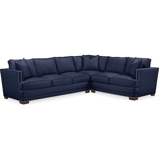 Arden 2 Pc. Sectional with Right Arm Facing Sofa- Cumulus in Oakley III Ink