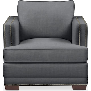 Arden Chair- Cumulus in Depalma Charcoal