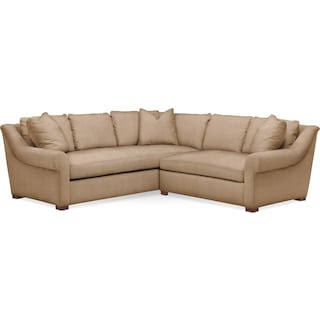 Asher 2 Pc. Sectional with Right Arm Facing Loveseat- Cumulus in Hugo Camel