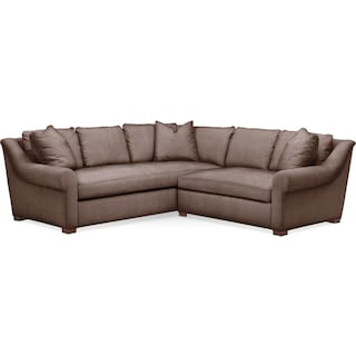 Asher 2 Pc. Sectional with Right Arm Facing Loveseat- Cumulus in Oakley III Java