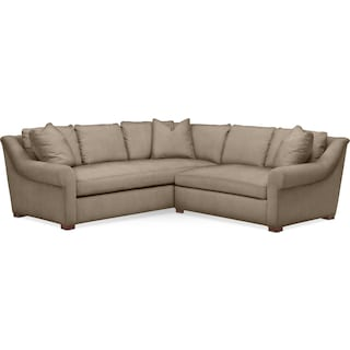 Asher 2 Pc. Sectional with Right Arm Facing Loveseat- Cumulus in Statley L Mondo