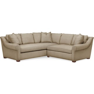 Asher 2 Pc. Sectional with Right Arm Facing Loveseat- Cumulus in Millford II Toast