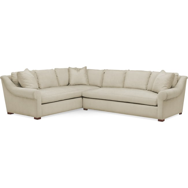Living Room Furniture - Asher 2-Piece Sectional with Right-Facing Sofa - Cumulus in Abington TW Barley
